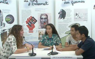 L'emi aux côtés des lycéens Écowebreporters de la COP21
